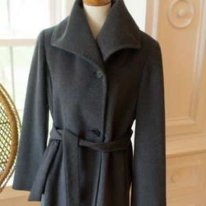 Ellen Tracy Wool Blend Coat